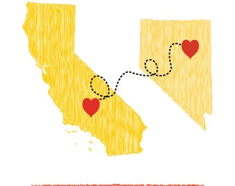 Love knows no distance Map
