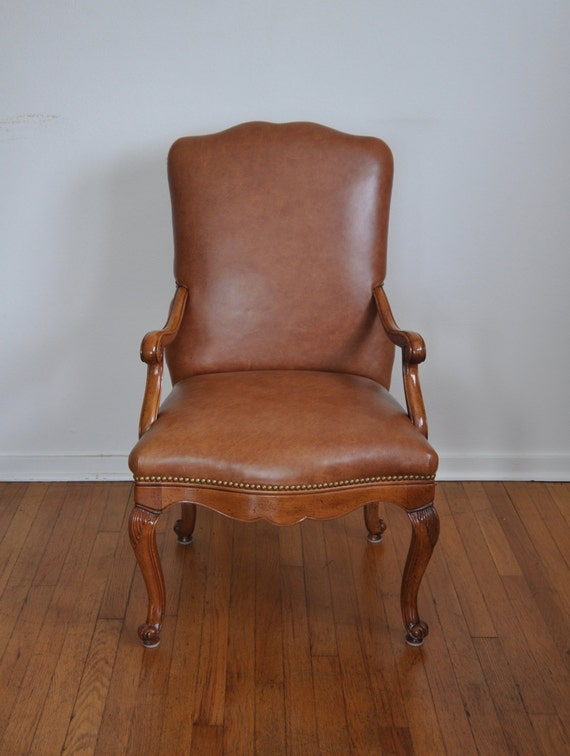 Vintage Baker Furniture Tan Leather Chair The Hippie Corner