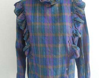 Vintage 80s C&A Plaid Shirt