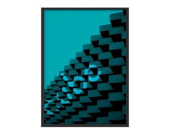 Cube-architecture photo Poster