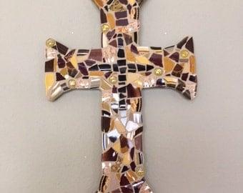 Cross in earth tones