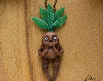 Funny Mandrake root necklace Harry Potter
