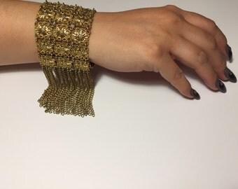 Gold Fringe Tassel Bracelet