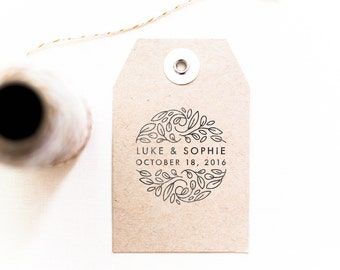 Save the Date Circle Stamp - Personalized Save the Date Stamp,  Invitation Stamp, Engagement Stamp, Unique Save the Date Ideas (Style 24)