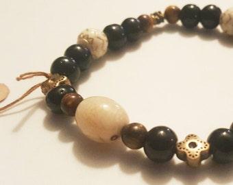 Warm colored Beaded Bracelet