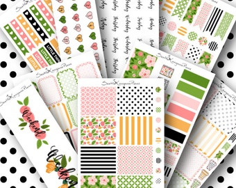 Spring Delight || Weekly Planner Kit (190+ Planner Stickers) || SeattleKangarooPlans