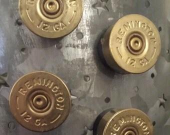 Set of 4, 12 Gauge Shot Gun Shell Magnets