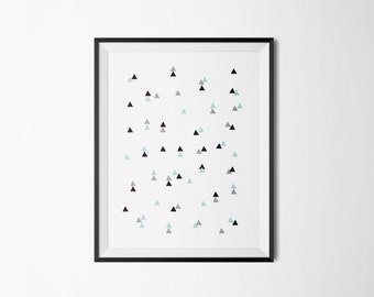 Geometric art, Triangle art, Scandinavian art, Wall art prints, Geometric wall decor, Abstract art printable, Minimal wall art, Home decor