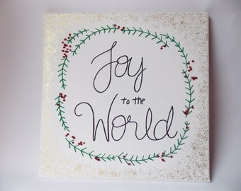 Christmas Stitched Canvas Wall Art
