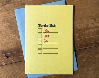 To do list – yellow A6