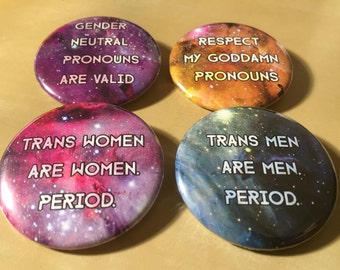Cosmic Trans Buttons