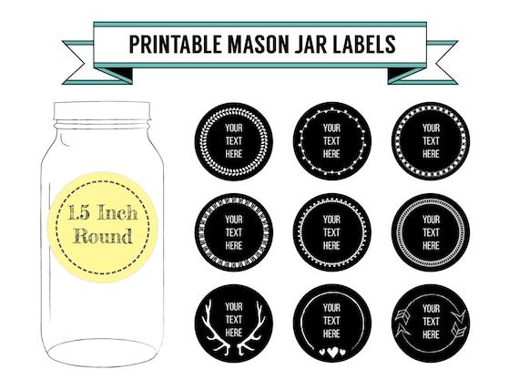 printable diy chalkboard mason jar labels canning labels 9. Black Bedroom Furniture Sets. Home Design Ideas