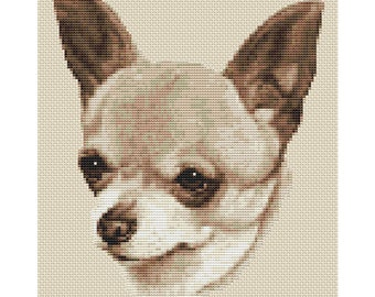 Chihuahua Dog in Sepia Cross Stitch Design by Elite Designs