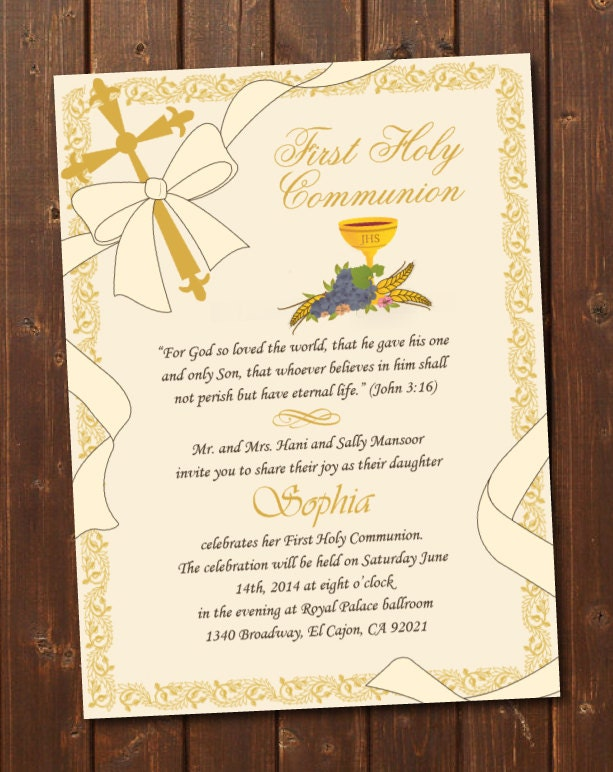 Refreshing image within printable first communion cards