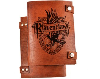 Ravenclaw logo journal - ravenclaw notebook - harry potter notebook - harrypotter gift - leather diary