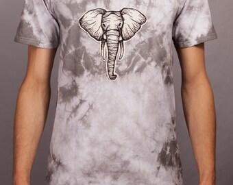 Grey Dye Elephant T-Shirt