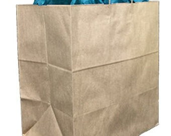 Pack 25 handled Kraft paper bag,14.5x9x16.25,Kraft gift bags,Kraft shopping bags with handles,small paper gift bags,brown paper bags
