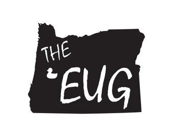 """Eugene, Oregon - """"The Eug"""" Vinyl Sticker"""