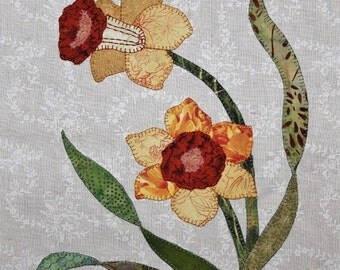 Daffodil Appliqué Block