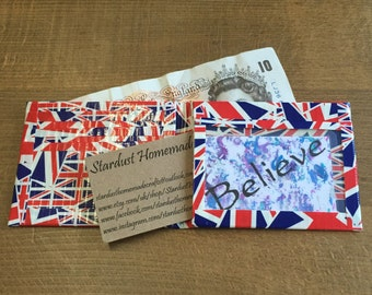 Handmade Bi-Fold Duck Tape Wallet - Union Jack Design