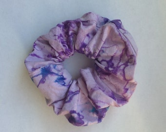Purple Tie-Dye Scrunchie