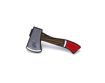 Axe enamel pin - Axe Pin - Enamel pin - Enamel axe pin - Axe lapel pin - Lumberjack gifts