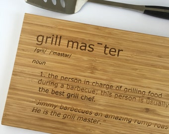 Personalized Grilling Gift - The Grillfather - Grill Master Cutting Board - Bamboo Cutting Board - Husband Gift