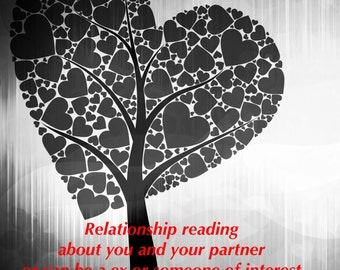 Relationship reading about you and your partner- see description