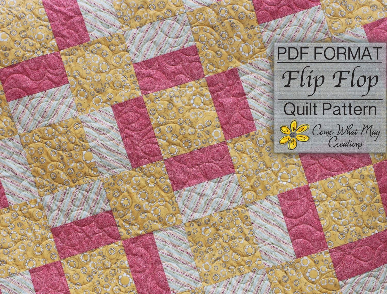 Baby Quilt Pattern Digital Quilt Pattern Flip Flop Baby
