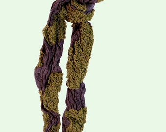 Lichen on Bark Silk Scarf