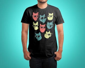 Cool Cat Shirt - Cute Cat & Kitty Shirt - Gift for Cat Lovers / Cat T Shirt / Cat Gift / Cat Lover Gift / Cute Animal Shirt - Funny Animals