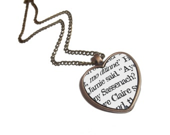 Outlander Jewelry, Jamie and Claire, Diana Gabaldon, Outlander Necklace, Jamie Fraser, Sassenach, Mo Duinne