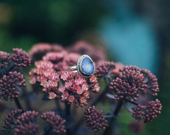 Purple Drusy Ring