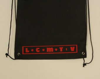"Backpack with logo: ""Locomotiv"". (Each t-shirt included in the price a backpack)."