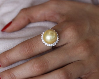 Pearl Ring  Sterling Silver Ring