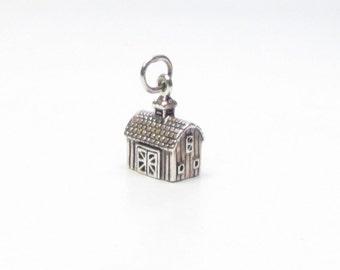 SILVER BARN, CHARM, Barn Wedding, Bridesmaids Gift, Barn Wedding Favor, Barn Charm, Barn Door, Handbag Charm, Barn Necklace, Barn Jewelry