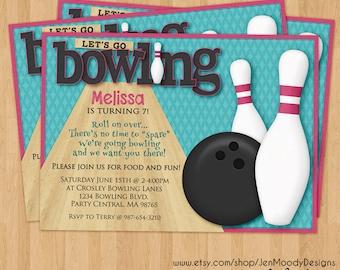 pink bowling ball etsy. Black Bedroom Furniture Sets. Home Design Ideas