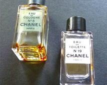 CHANEL Fragrance N 5 Eau de Cologne Chanel N 19 Eau de toilette, 2 Splash Mini Bottle, Perfume Miniature