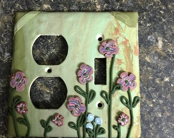 Handcrafted Polymer Clay Light Switch Plates