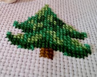 Fir Tree, simple cross stitch pattern
