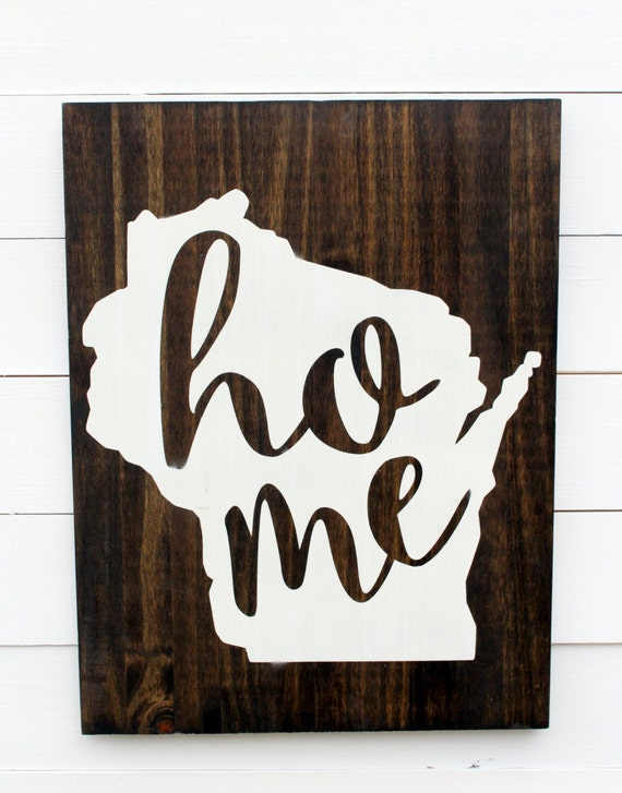 Wooden Wisconsin Home Wall Sign Wisconsin Decor Wisconsin