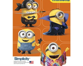 Sewing Pattern for Childs Minions Costume, Size 3 to 8 , Simplicity Pattern 1096, Halloween Costume, The Minions from Universal