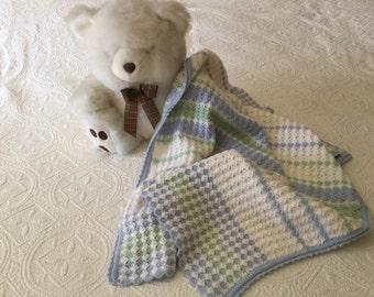 Soft baby blanket, stroller throw, baby shower gift, baby crochet blanket, crochet baby wrap