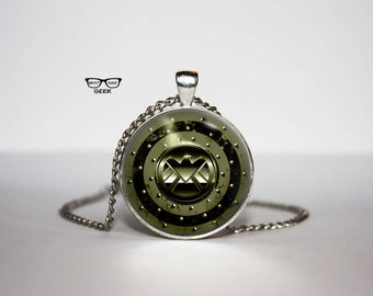 Agent of S.H.I.E.L.D Necklace, SHIELD Pendant, Avengers superhero movie necklace, Gift Idea for Her, for Him