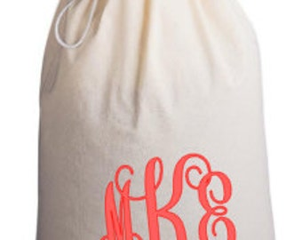 Custom Canvas Extra Large Laundry Bag -- Perfect Graduation Gift for College Bound Student -- Name or Monogram