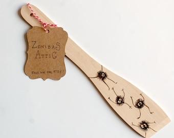 Soot Sprite Wooden Spatula - My Neighbour Totoro - Studio Ghibli - Spirited Away - Baking - Japanese Folklore - Cute - Gift - Housewarming