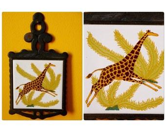 Giraffe Trivet Cast Iron by Seven Star