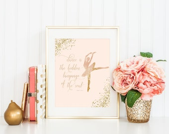 Ballet Print, Martha Graham Quote, Dance Art, Printable Art, Ballet Dancer Art, Ballet Printable