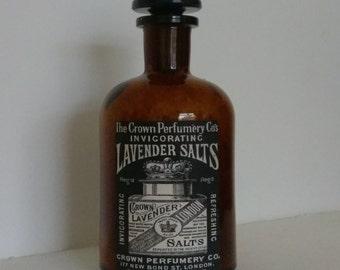 Bath salts & apothecary style Victorian pharmacy bottle 250ml