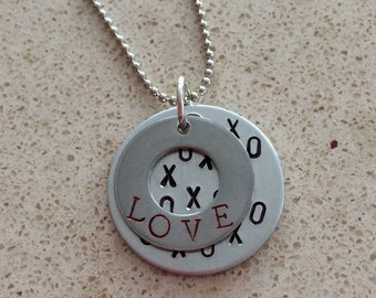 Hand Stamped Love Necklace